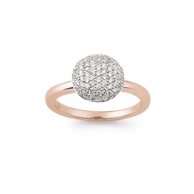 18 carat rose gold diamond ring