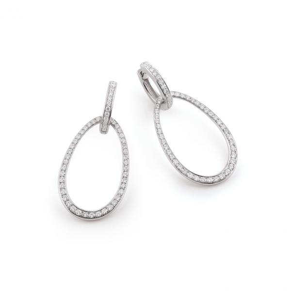 hoop earrings with detachable drops