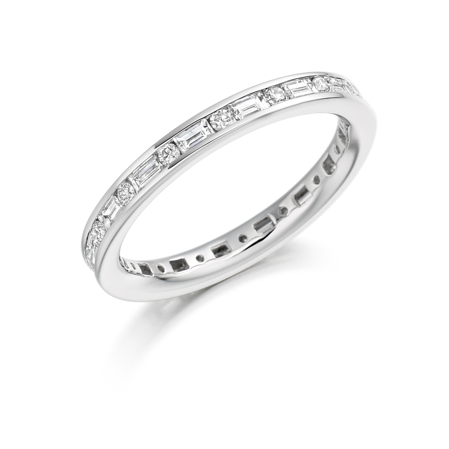Round Brilliant And Baguette Diamond Eternity Ring