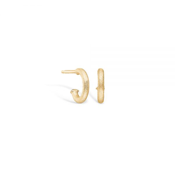 14 carat yellow gold hoop earrings