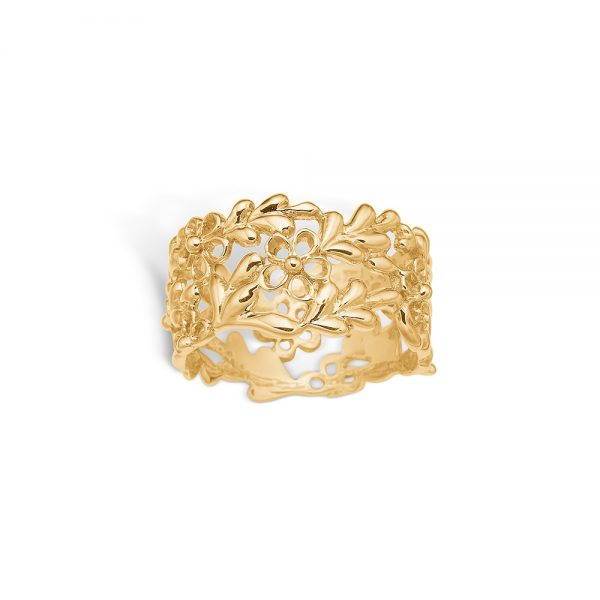 wide yellow gold ring
