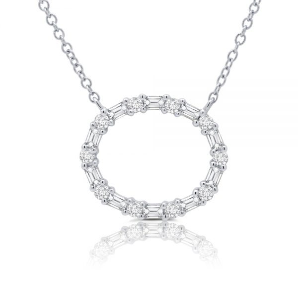 circle of life diamond necklace
