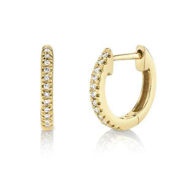 14k gold medium hoop earrings