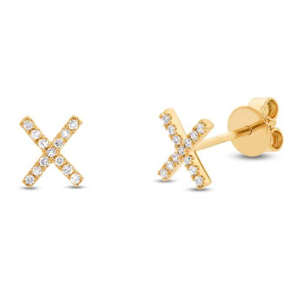 gold kiss earrings