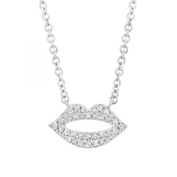 diamond lips necklace
