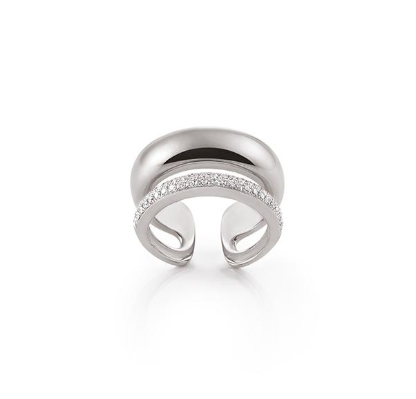 contemporary white gold diamond ring