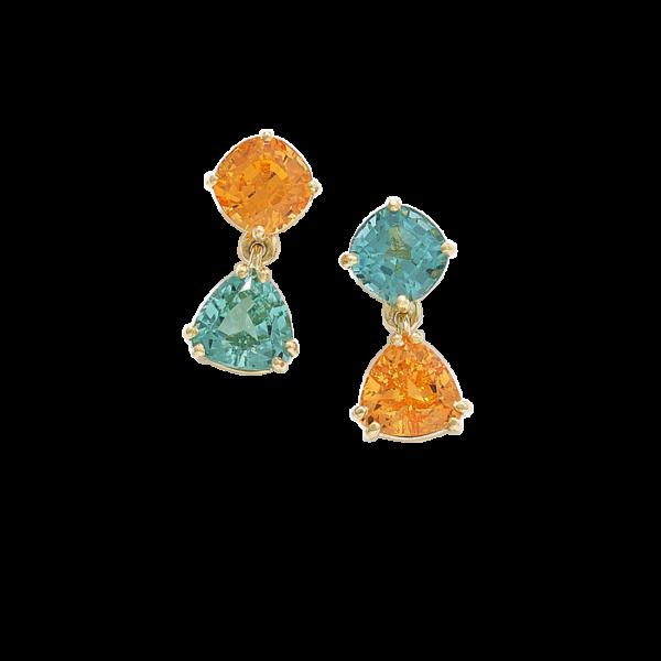 mandarin garnet earrings